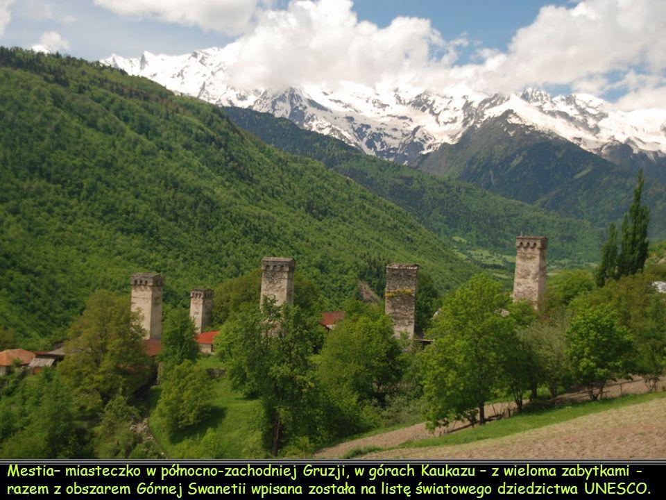 Mestia (gruz. მესტია) – miasto w północno-zachodniej Gruzji, w regionie Megrelia i Górna Swanetia, położone w górach Kaukazu. Miasto liczy 3482 mieszkańców (2009)[1].